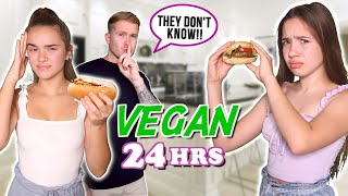 Eating VEGAN for 24 HOURS without KNOWING!