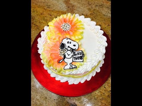 Snoopy Cake Cake Decorating YouTube