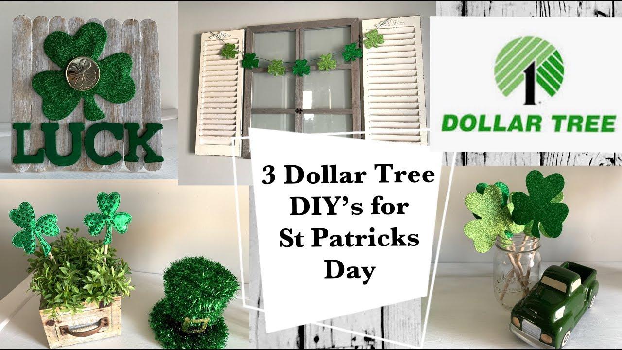 3 Dollar Tree DIY's for St. Patrick's Day