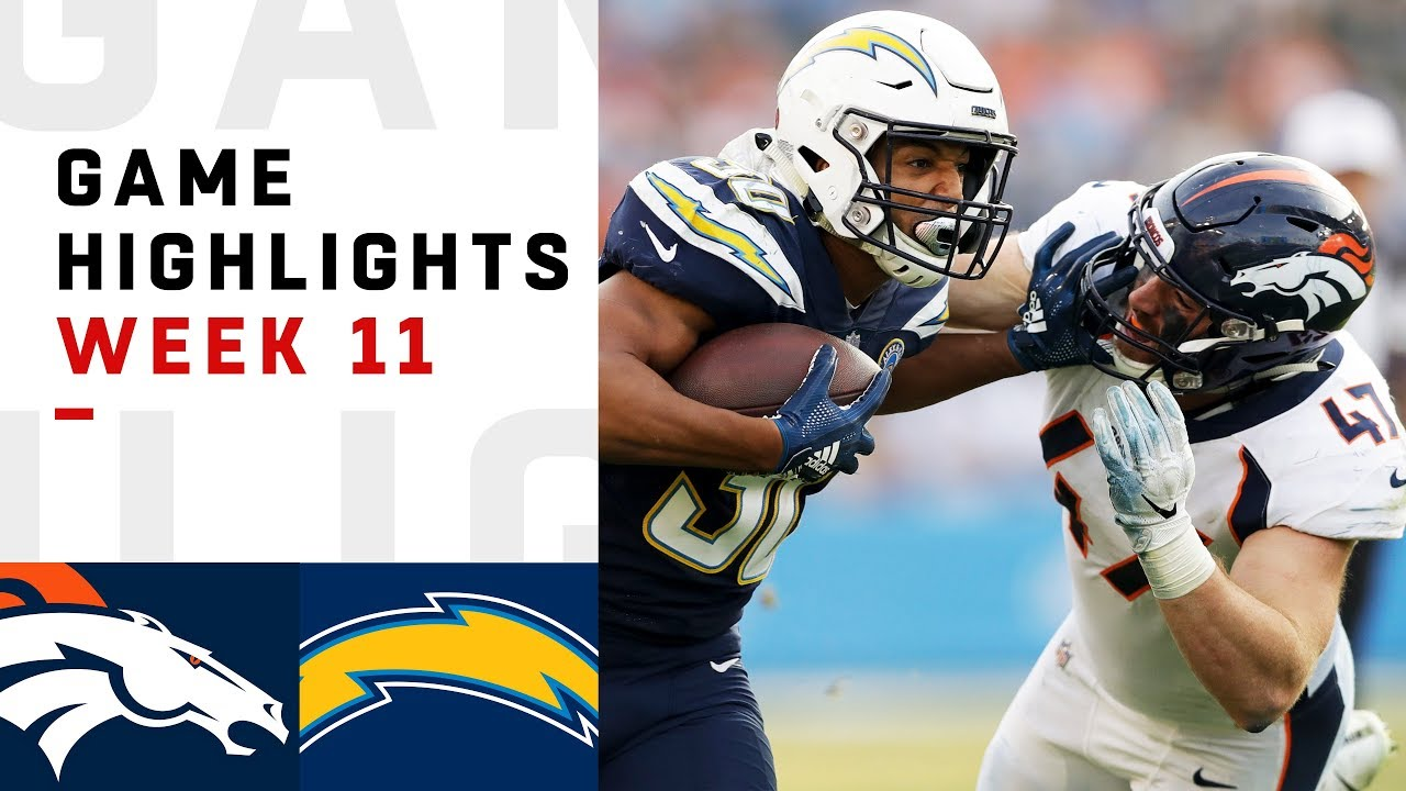 Broncos Vs Chargers Week 11 Highlights Nfl 2018 Youtube