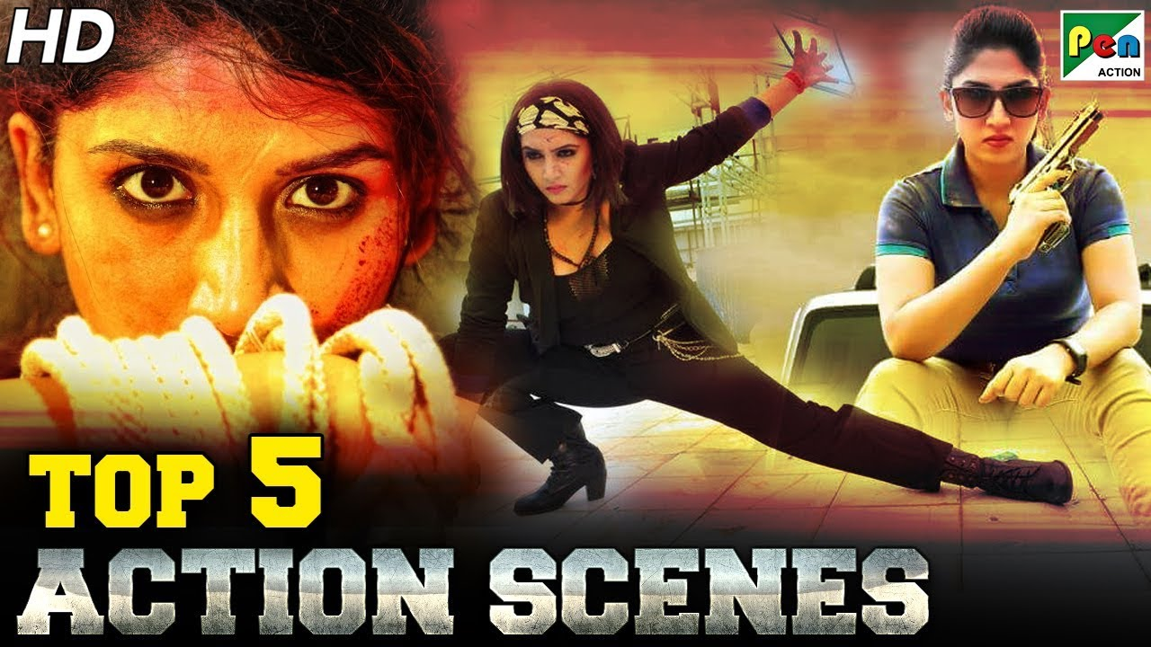 Top 5  South Action Scenes Of 2019 – Female | Ayesha Habib, Ragini Dwivedi | HD