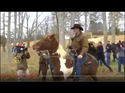 Roy Moore Showing How Not To Ride A Horse - Loud Hard Hands