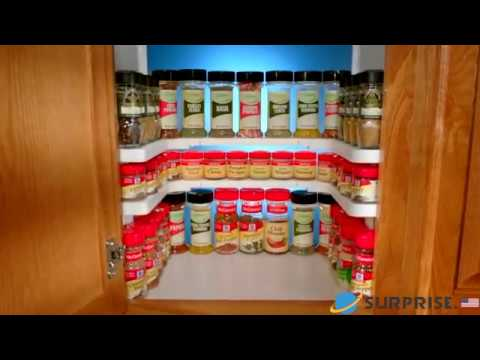 Edenware Spice Rack And Stackable Shelf Cool Spice Rack And Stackable Shelf YouTube