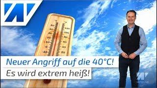 Neue Rekordhitze: Die 40-Grad-Marke wird wieder angepeilt!