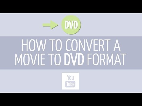 How to convert your movie to DVD format