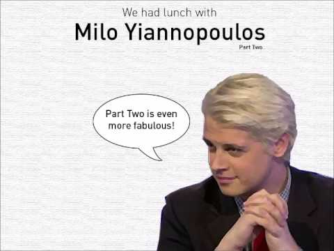 Milo Yiannopoulos on the origin of his hair, who he'd invite to dinner, and fashion tips