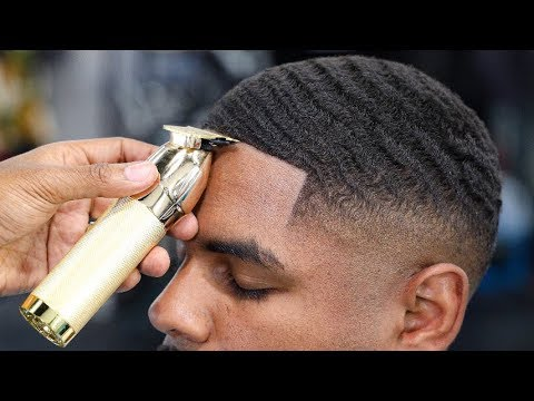 Drop Fade Waves Haircut With Part 25