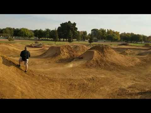 Brushless Revo jumping at Elk Grove BMX park