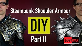 DIY Steampunk Shoulder Armor Part 2. Cosplay Armor Pattern and Tutorial