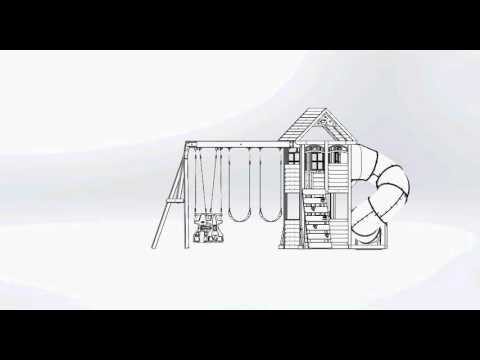 Big Backyard Premium Cloverdale Wooden Play Set / Swing Set | Toys R Us Canada