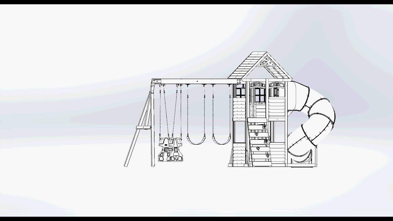 big backyard premium cloverdale wooden play set swing set youtube