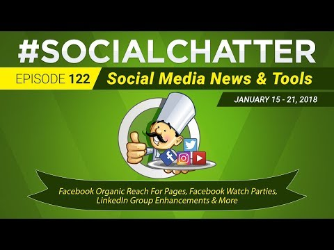 Social Media Marketing Talk Show 122 - Facebook Organic Reach For Pages and Facebook Watch Parties