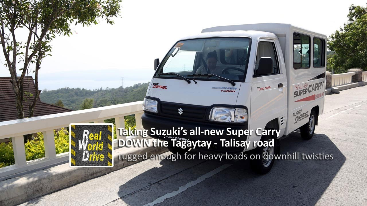 Taking Suzuki S All New Super Carry Down The Tagaytay Talisay Road