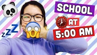 GOING TO SCHOOL AT 5AM?! | MED SCHOOL STUDENT LIFE | twinklinglena