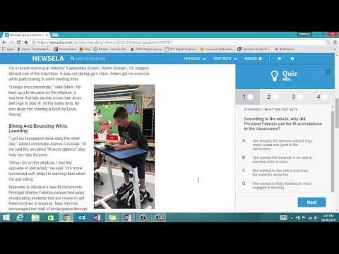 Taking Newsela Quizzes - YouTube
