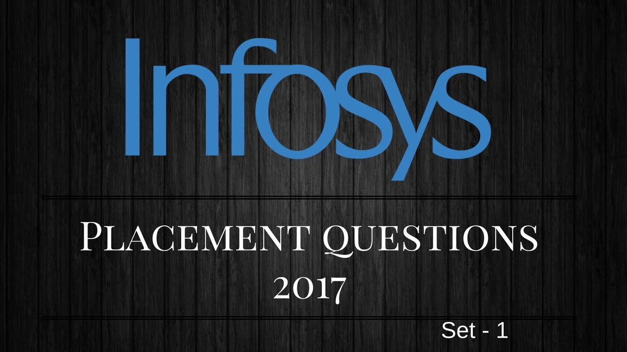 Infosys Placement Interview Questions For Freshers Beginers