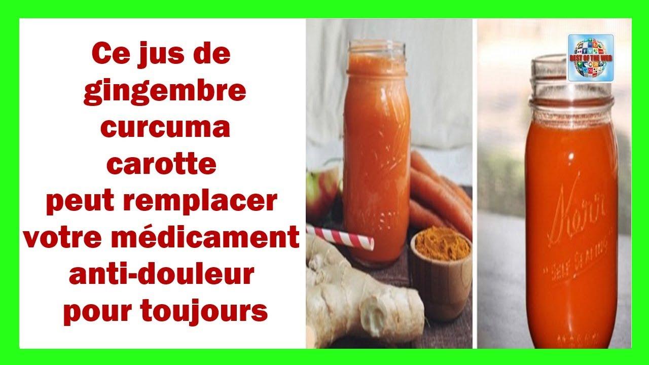 Ce jus de gingembre curcuma carotte peut remplacer votre