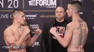 Aaron Pico vs Shane Kruchten Full Weigh in and Face off video - Bellator 192