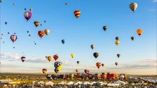 Hot Air Balloon Festival | Santa Fe New Mexico | 4K UHD