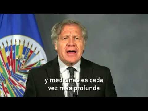 LUIS ALMAGRO HABLA DE LA FARSA ELECTORAL DE MADURO