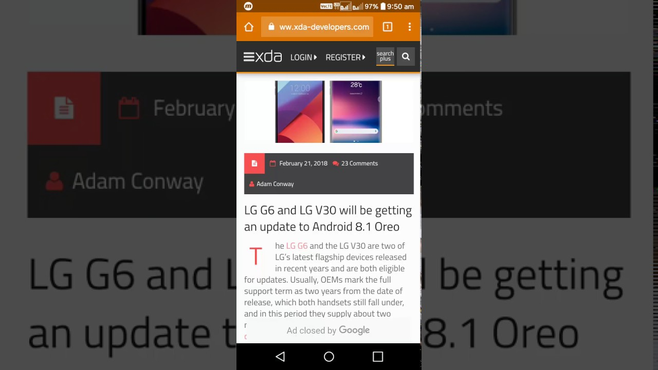 LG G6 and V30 will getting the Oreo 8 1 update within end of March 2018