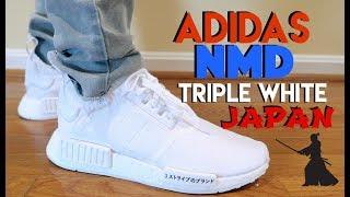 Adidas Nmd Triple White Japan Pk Review On Feet Youtube