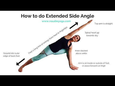 Beginners Yoga: How to do Extended Side Angle