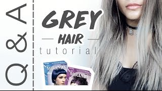 Q & A : Grey Hair / Rambut Abu Abu Cat Miranda | Bahasa Indonesia - Boya Boay