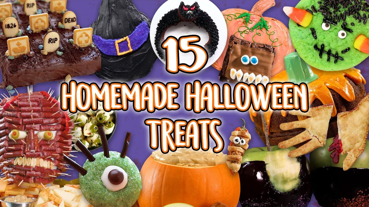 But instead of buying party decorations that are generic, impersonal — and maybe even boring — why not put your crafting skills to use and diy some d. 15 Homemade Halloween Treats Diy Food Ideas For Halloween Party Recipe Compilation Youtube