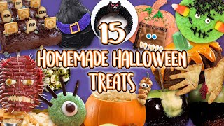 15 Homemade Halloween Treats | DIY Food Ideas for Halloween Party | Recipe Compilation