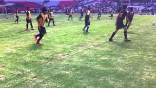 Halcones Escuela de Fútbol -  Juego en el Estadio Azteca  (15 Junio 2013)