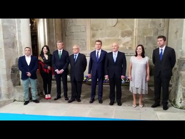 """Feijóo reivindica un """"galeguismo compartido"""" en las Medallas Castelao"""