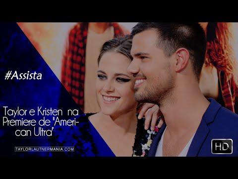 Vídeos de Taylor e Kristen  na Premiere de ''American Ultra'''