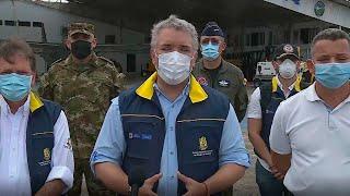 Presidente Duque al llegar al Archipiélago de San Andrés y Providencia tras el paso del huracán Iota