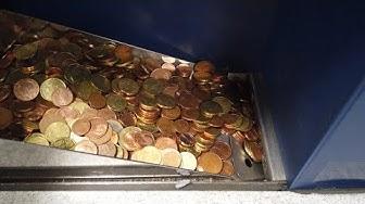 """WIR bringen KLEINGELD zur Münzzählmaschine von """"Coinstar"""" im REAL-Markt"""