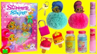 Shimmer and Shine Diary Keepsake Lock Box Num Noms Lip Glosses