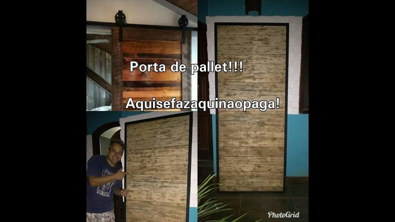 Porta De Pallets Mais Facil Do Youtube Diy Sliding Barn