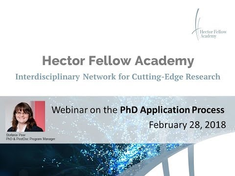 Webinar on the PhD Application Process of the Hector Fellow Academy