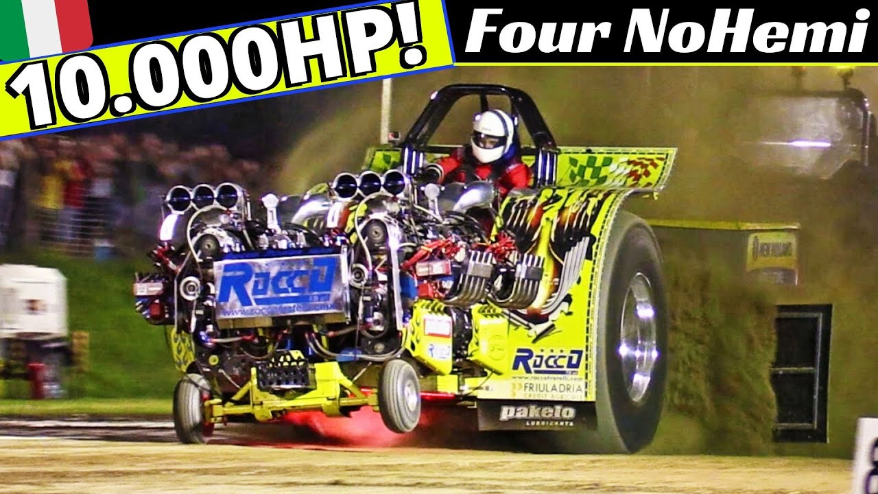 10.000Hp Tractor Pulling Four NoHemi - 4x V8 Hemi Engines, 4x Supercharges - 5 Years Tribute Video