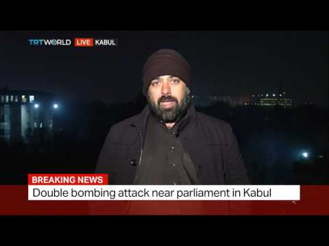 Double bombing attack near parliament in Kabul