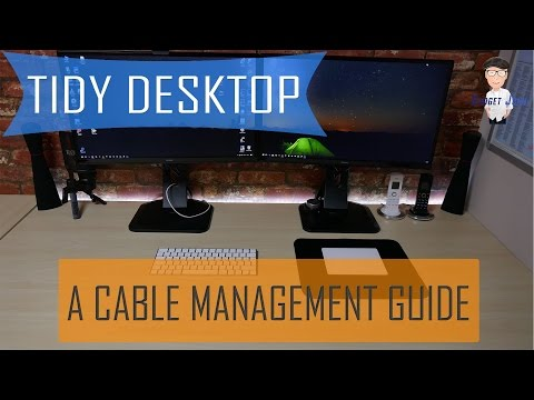 The Best Cable Management method for your Desktop Setup
