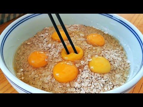雞蛋別炒著吃了,加一碗麥片,這樣做比吃肉還香,出鍋就被掃光光【小穎美食】