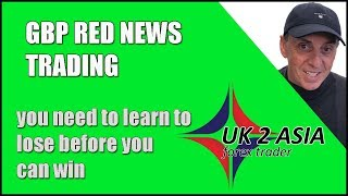GBP RED NEWS TRADING - How to trade forex 02/08/2018