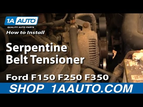 [SCHEMATICS_49CH]  How To Replace Serpentine Belt Tensioner Ford 92-96 F150/250/350 - YouTube | Belt Diagram For A Ford F 250 5 8 Engine |  | YouTube