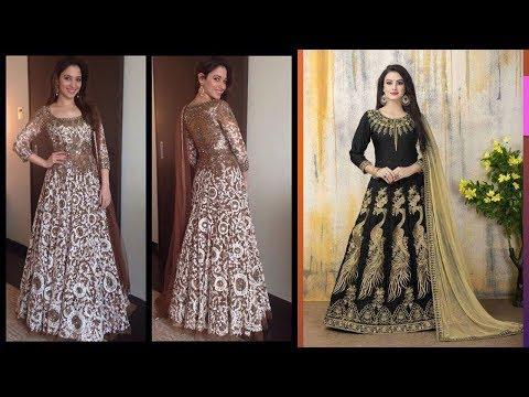 Long Anarkali Gown Dress Designs 2017 (Part 43)