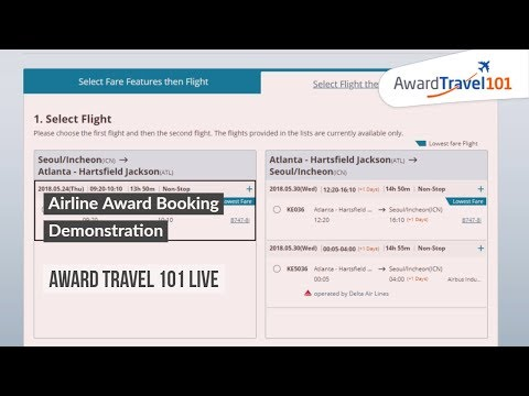 Airline Award Booking Demonstration