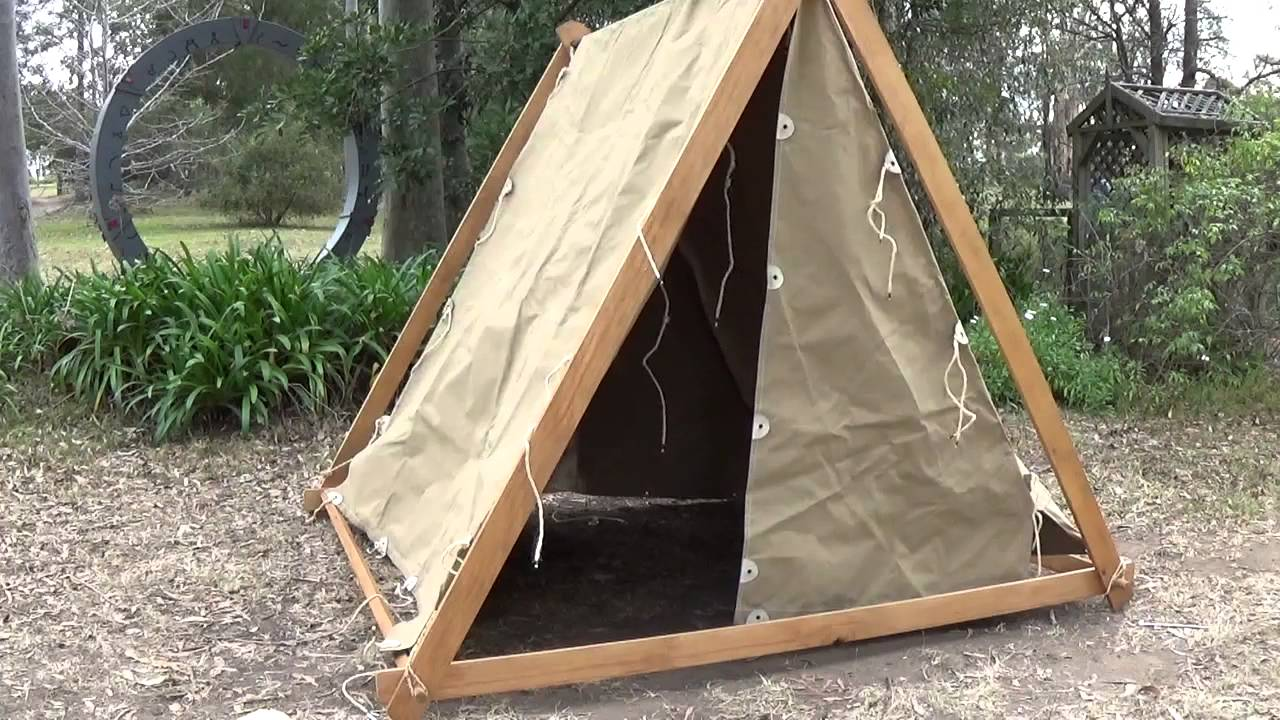 Constructing A Viking Tent Youtube