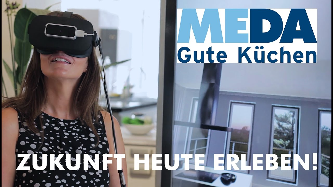 meda zukunft heute erleben die meda virtual reality k che youtube. Black Bedroom Furniture Sets. Home Design Ideas