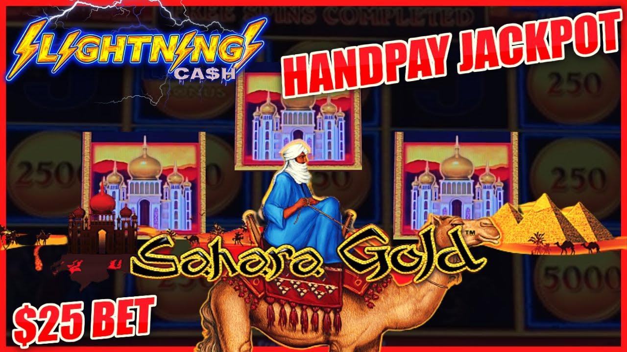 HIGH LIMIT Lightning Link Magic Pearl & Sahara Gold HANDPAY JACKPOT ⚡️$25 Bonus Round Slot Machine