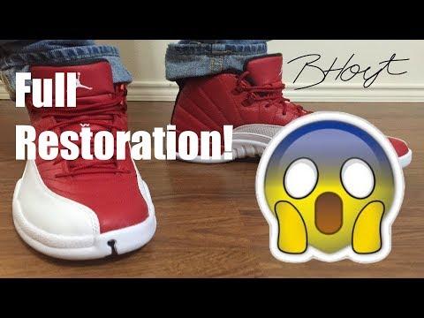 Jordan Retro 12 Gym Red RESTORATION!!